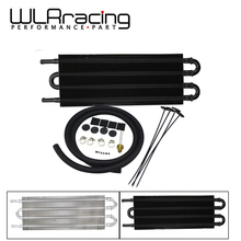 WLR RACING – UNIVERSAL 305X127X19.05 ALUMINUM REMOTE TRANSMISSION OIL COOLER/AUTO-MANUAL RADIATOR CONVERTER WLR7432