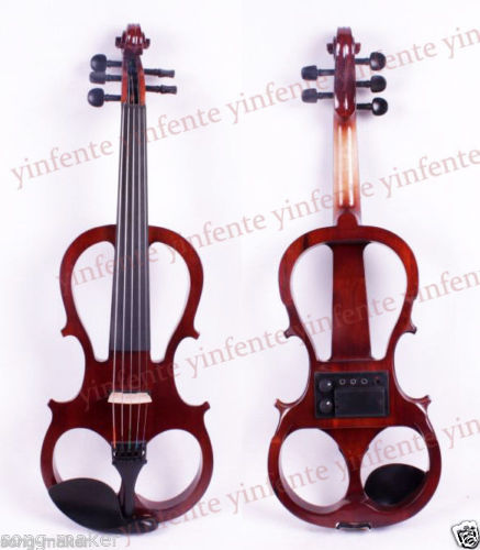 5 String 4/4 Electric Violin Silent Nice Sound Ebony parts Rosewood Color #5 4 4 electric cello 4 string silent powerful sound ebony part top grade you can choose color i can make for you