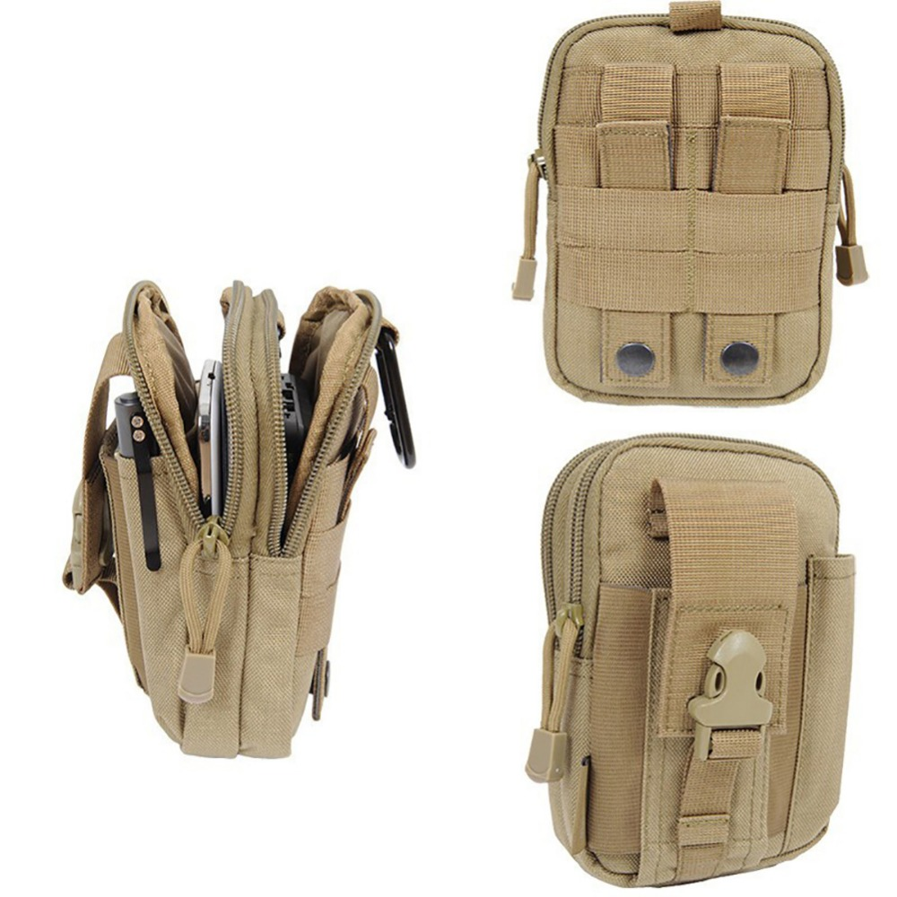 New Arrival Tactical Molle Pouch Belt Waist Pack Bag Small Pocket Military Waist Fanny Pack Phone Pocket Hip Waist Belt Bag tactical universal holster military molle hip waist belt bag wallet pouch purse phone case with zipper for iphone