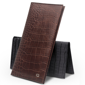 QIALINO Case for iphone 7 & iPhone 7 plus Luxury Handmade Genuine Leather Wallet Bag for iPhone 6s slots for cards 4.7/5.5 inch