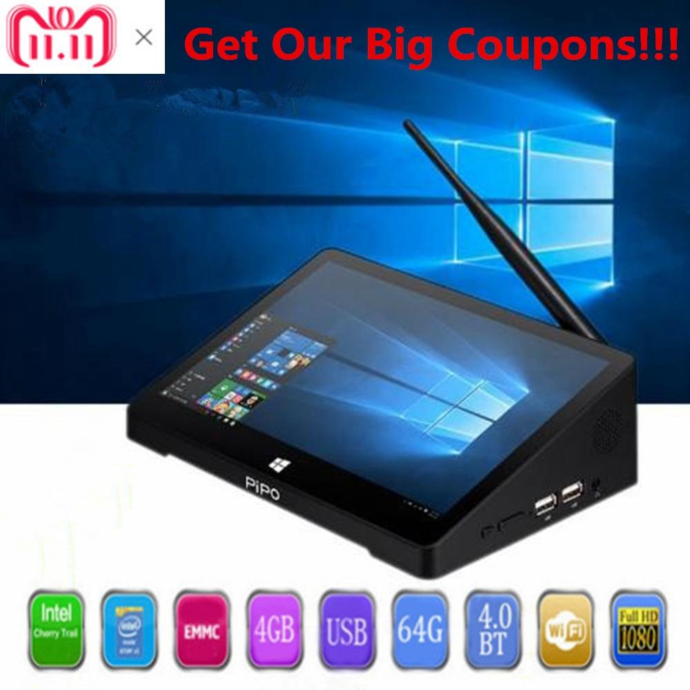 PIPO X10 Pro Mini PC Windows 10& Andriod 5.1 Mini PC Intel Cherry Trail Z8350 4G 64G 10.8 Inch Tablet PC 2.4G WiFi Media Player ainol mini pc ii win8 dual boot intel hd graphics7 media player