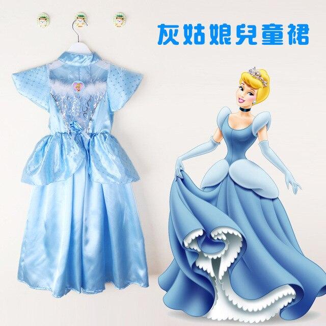HOT SALE Cinderella dress for baby girls summer cartoon ...