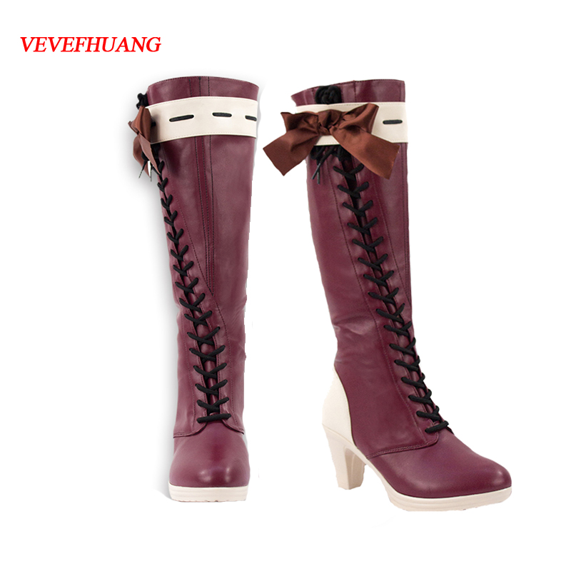 VEVEFHUANG Japanese Anime Violet Evergarden Cosplay Women Cosplay Shoes Japanese Anime Cosplay Violet Evergarden Boots