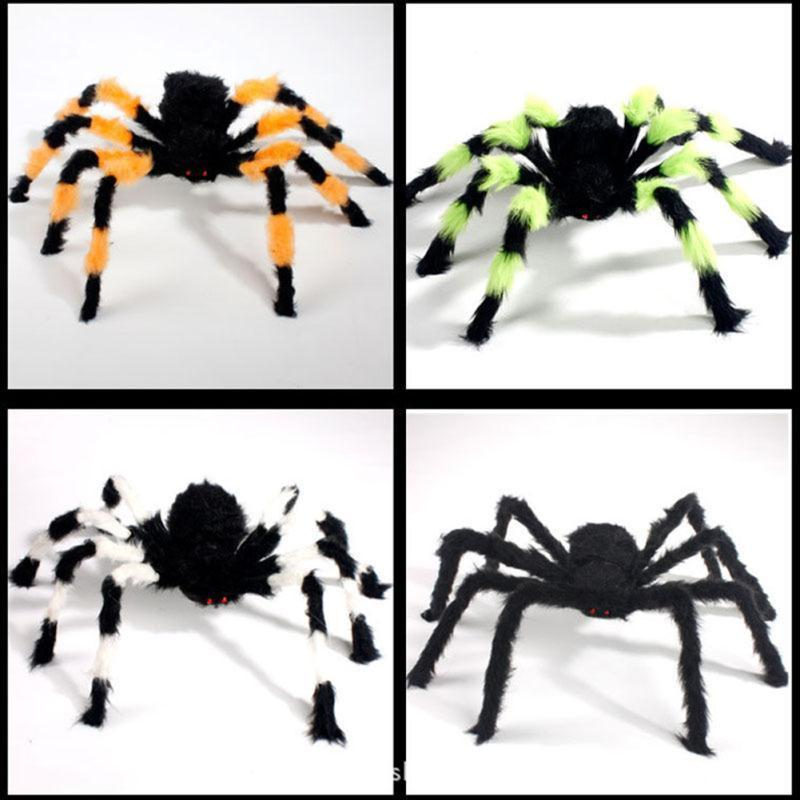halloween decoration spider haunted house prop random ship black colorful 305075cm indoor outdoor decor props wholesale - Spider Halloween Decorations