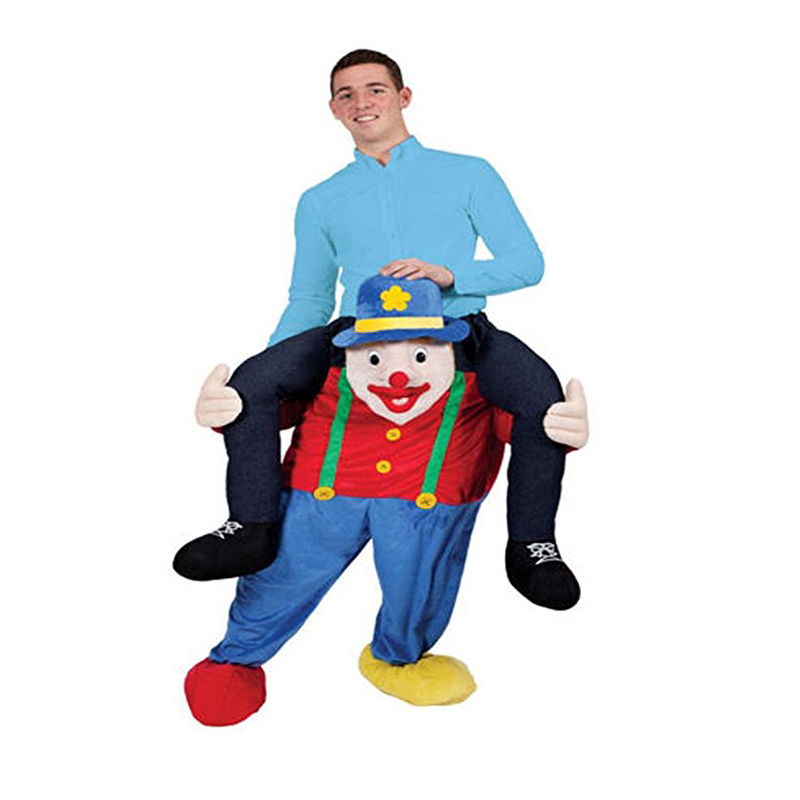 Novelty Clown Ride on Mascot Costumes Piggyback Pants Fancy Dress Up Oktoberfest Halloween Party Novelty Adluts Cosplay Clothes halloween costumes clown dressed up acting cute nose red