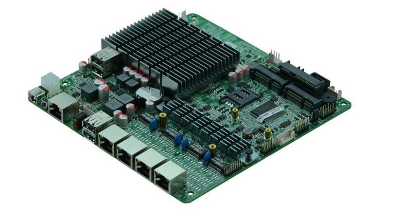 Bay Trial SOC Platform Dual Core j1800 Fanless Mini ITX 4 Ethernet LAN Ports Motherboard цена