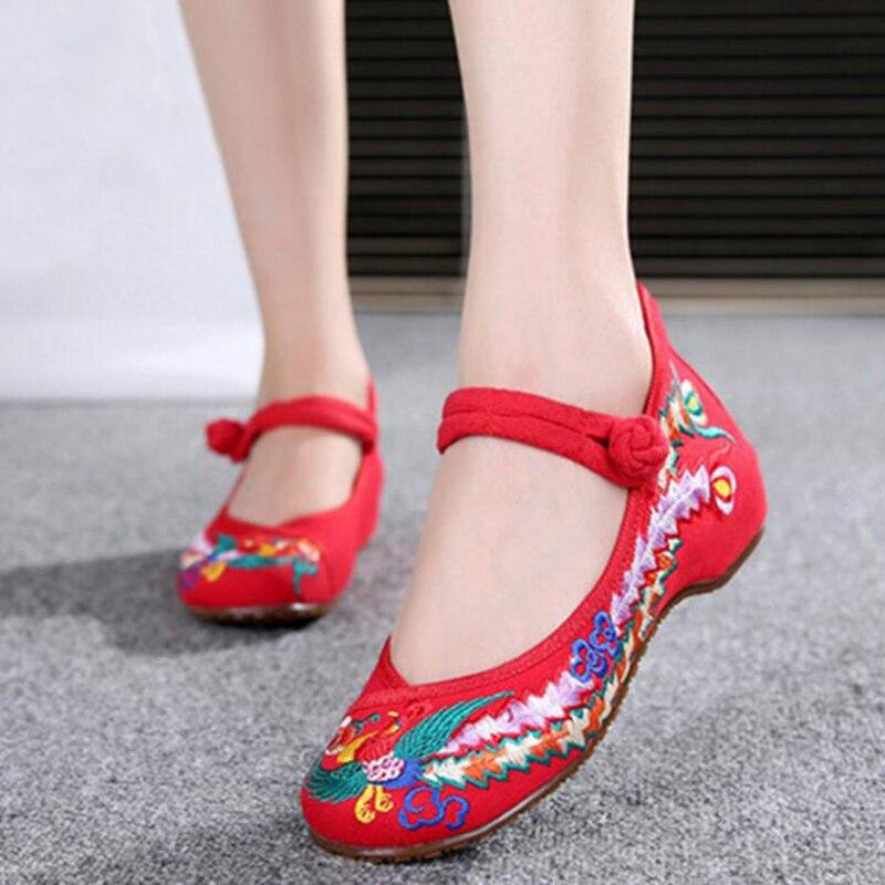 Arrivée Confortable Simples Femmes Boucle red Chaussures Muscle Tissu Talon Nouvelle Casual Vieux Pékin Appartements Bas Danse Pour Black blue Toile Vache NnO0kX8Pw