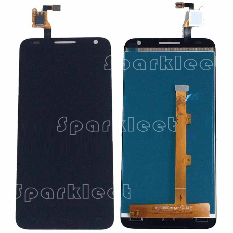 Black Brand New Original Black LCDs For Alcatel Idol 2 Mini S 6036 6036A 6036X 6036Y LCD Display Touch Screen Digitizer Assembly brand new original for 2 2 inch ls022q8ud04 display