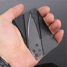 H0501 Credit Card Knife Folding Blade Pocket Mini Wallet Outdoor Camping Hunting Tools Folding Tactical Knife survival knife