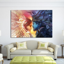 JQHYART Canvas Posters Wall Art Decorative Wall Pictures Couple Paintings No Frame Home Living Room Decor Printed Painting(China)