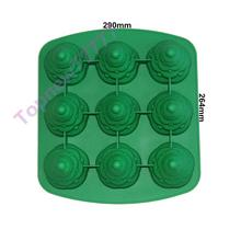 3D 9-Hole Christmas Tree Silicone Tray Pudding Cupcake Mold Xmas Navidad Chocolate Cookies Candy Pan Gift Silicone Mould F2492