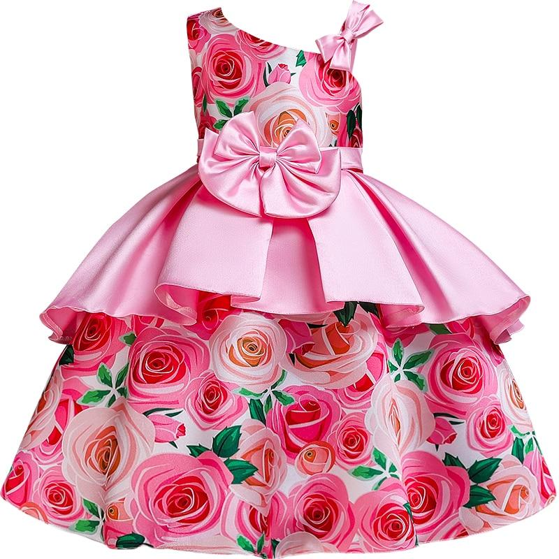 New Style   Flower     Girls   Wedding Party   Dresses     Girl's   first communicative communicative communion ball bow   dress   vestidos de