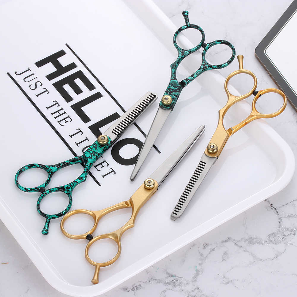 1PC 5.5/6 Inch Salon Professional Hair Cutting Scissor Barber Hair Cutting Thinning Scissors Shears Hairdressing Styling Tools
