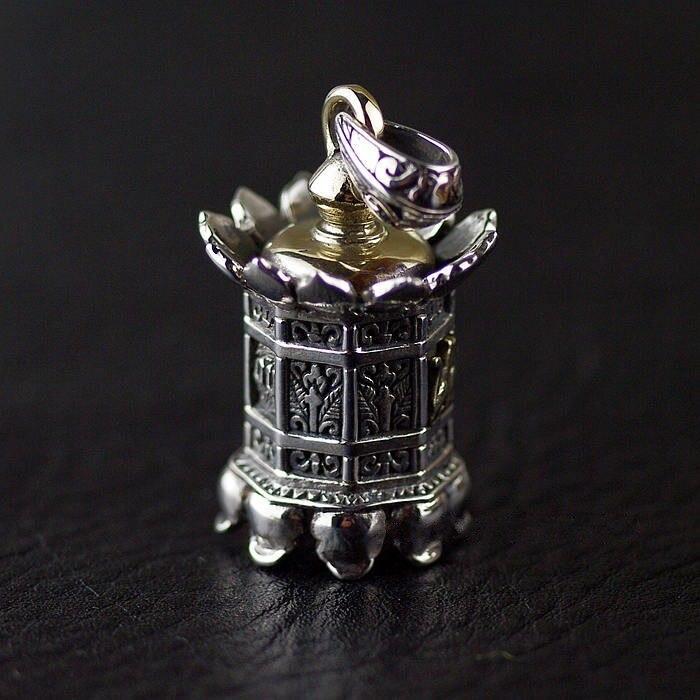 Genuine 925 sterling silver pendants OV New Lotus LanternGenuine 925 sterling silver pendants OV New Lotus Lantern