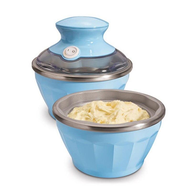 EDTID ménage mini fabricants de crème glacée molle 2-bol conception intelligente machine à crème glacée appareils ménagers de haute qualité