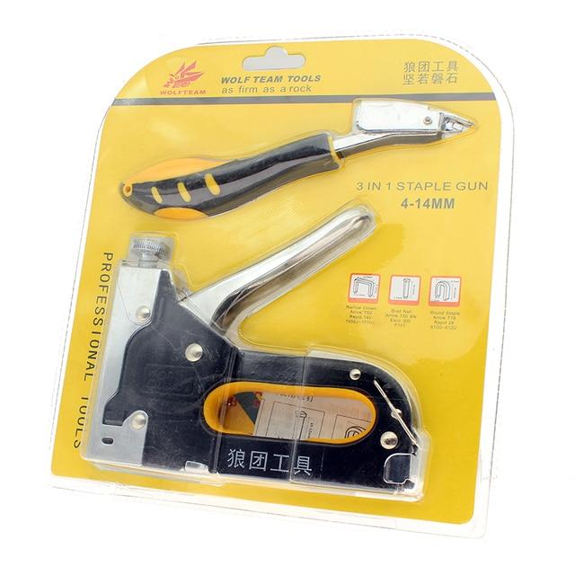 Nail Staple Gun With Puller Staple Remover & Stapler For Wood ...