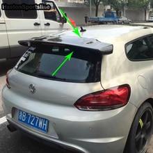 Scirocco V Стиль углеродного волокна задняя Крока крыши спойлер крыло автомобиля для Volkswagen Scirocco 2009