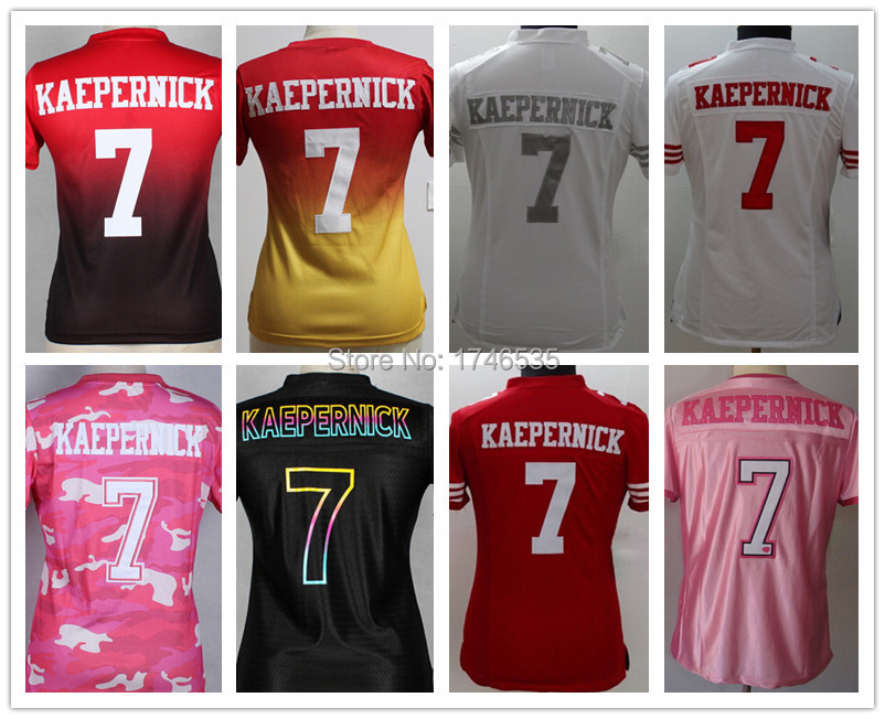 the latest 56c46 d5268 Free Shipping 7 Colin Kaepernick Rugby Jerseys Women's ...