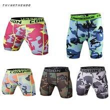 THINKTHENDO Skinny Men's Sports Gym Compression Wear Under Base Layer Shorts Pants Athletic Tights