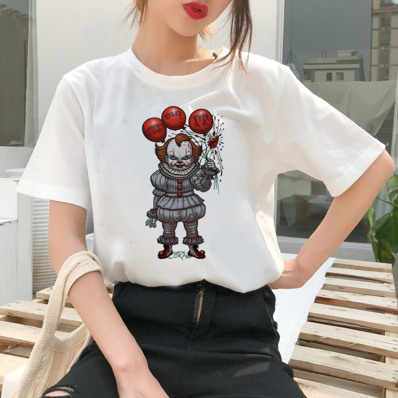 chucky t shirt Horror High cool women top Quality new streetwear tee t-shirt fashion ulzzang female shirts femme new tshirt 16