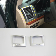 Car Accessories Interior Decoration ABS Front Side Air Vent Outlet Cover Trims For Toyota Land Cruiser 2016 Car Styling цены