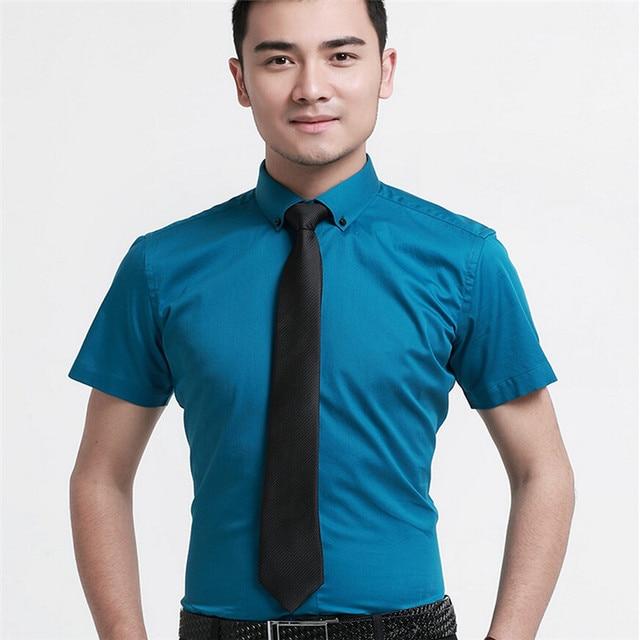 Высокое качество мужчины платье марка хлопка с коротким рукавом 8 цвет cmaisa MDHK01-8 xs-xxxl