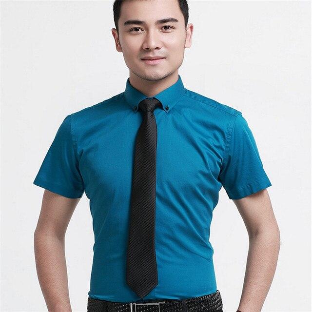 High Quality Men  Dress  Brand  cotton short  sleeve    shirt   8 color  cmaisa  MDHK01-8  XS - XXXL
