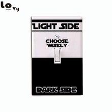 Classic Movie Star Wars Dark Side Light Side Switch Sticker Cartoon Vinyl Wall Decal Home Decor 012