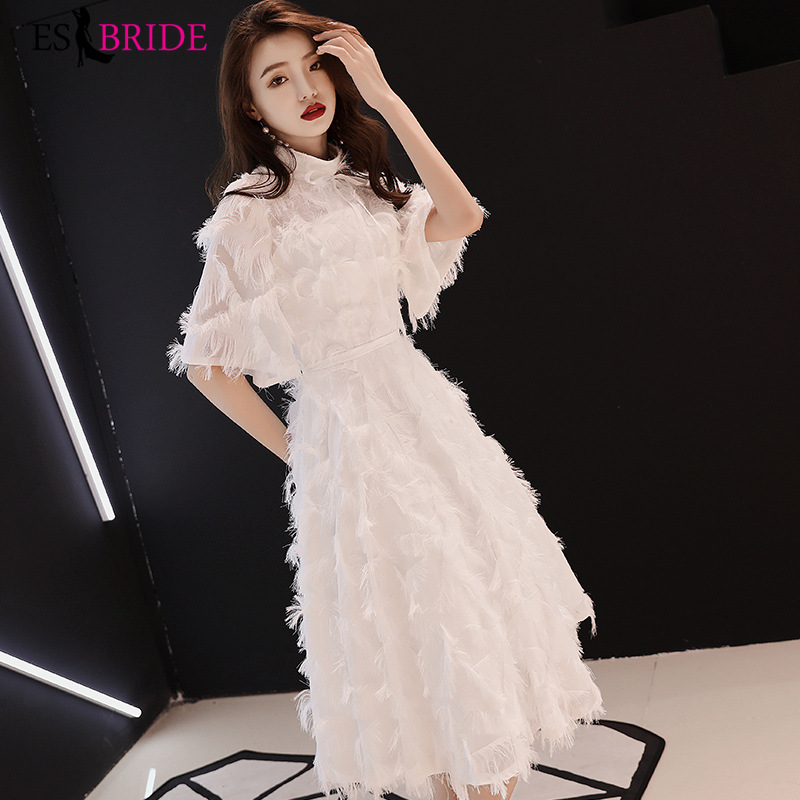 White Student Party Evening Gowns For Women Elegant Robe De Soiree Long Evening Dress 2019 Formal Dress Evening Dresses ES2427