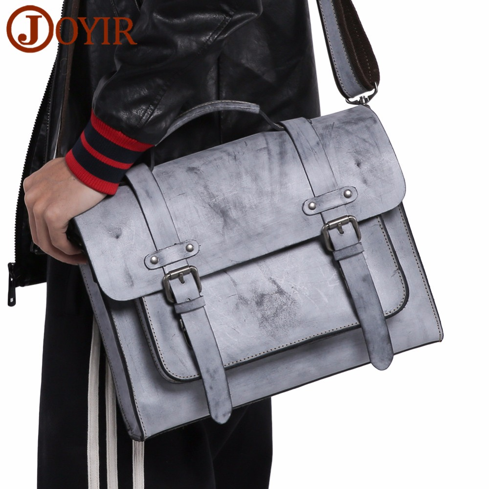 JOYIR Men Messenger Bags Genuine Leather Handbag Fashion Men