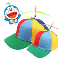The new outdoor parent-child baseball cap bamboo dragonfly windmill cap and outdoor children's hip hop peaked cap cap