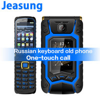 New Arrival X9 Dual Touch Screen Flip Senior Push Button Mobile Phone Clamshell land rover CellPhone Russian Keyboard Phone
