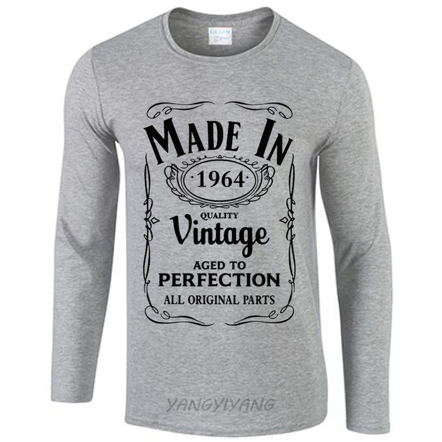 Made In 1964 T Shirt Born 53nd Year Birthday Age Present Vintage Funny Mens Gift