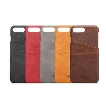 Новый Ретро Бизнес Стиль Роскошный кожаный чехол для Apple iPhone 7/7 плюс чехол бумажник держателя карты телефон принципиально сумки
