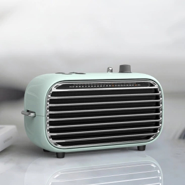 Image 4 - The latest xiaomi mijia LOFREE Bluetooth speaker fashion retro lightweight portable FM radio Bluetooth cable dual mode Smart 36-in Smart Remote Control from Consumer Electronics