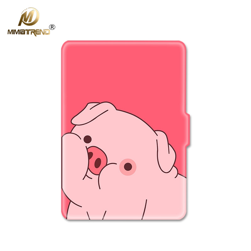 Mimiatrend 3D Cartoon Pink Pig PU Cover for Amazon Kindle Paperwhite 1 2 3 449 558 Case 6 inch Ebook Tablet Accessories Gifts pink marble grain magnet pu flip cover for amazon kindle paperwhite 1 2 3 449 558 case 6 inch ebook tablet case leather case