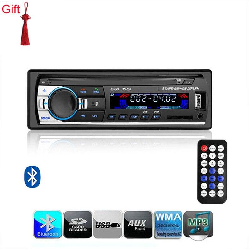 Car radio JSD-520 12V MP3 FM Bluetooth 1 din car stereo Player Phone AUX-IN MP3 FM/USB/radio remote control Auto Car Audio 12V newest 12v car radio stereo auto audio player bluetooth phone aux in mp3 fm usb 1 din remote control auto radio