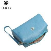 Hongu حقيقية الجلود رسول حقيبة المرأة محافظ عملة المحافظ حامل البطاقة أنثى crossbody حقيبة يد سرية تماما لون عشوائي
