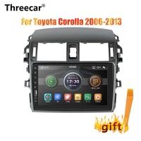 Threecar 2din 9inch Car Radio Mirrorlink Android Bluetooth Car Multimedia MP5 Player For Toyota Corolla 2008 2009 2010 2011 2013