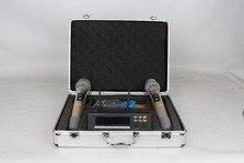 P-4 dual channel microfone sem fio UHF dual band 200 freqüência seletiva de freqüência do infravermelho