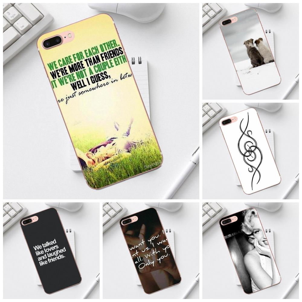 Qdowpz For Galaxy Alpha Core Prime Note 4 5 8 S3 S4 S5 S6 S7 S8 S9 mini edge Plus Drawing TPU Best Friends Making A Heart Lover image