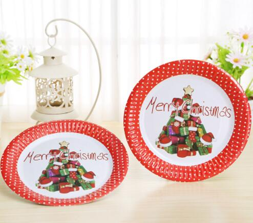 10pcs/set Merry Christmas Santa Snowman Disposable Tableware Party Paper Plates Baby Shower Birthday Party Supplies-in Party DIY Decorations from Home ...  sc 1 st  AliExpress.com & 10pcs/set Merry Christmas Santa Snowman Disposable Tableware Party ...