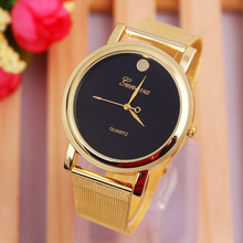 Best Quality Classic Quartz Gold Watch Men Full Stainless Steel Woman Fashion Dress Watches Geneva Wristwatch Relogio Masculino