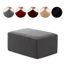 Polar fleece fabric Square ottoman cover Stool Cover Dust proof Home Textile footrest Cover footstool Thick Cover 115x65x42cm