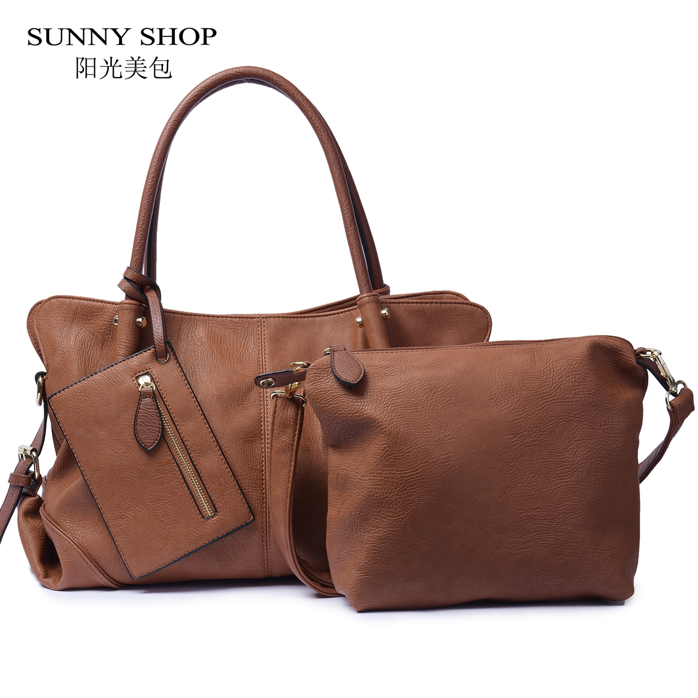 Vintage sac ensemble pour femmes 2018 grande capacité de luxe Designer en cuir sacs à main et sac à main américain dames sacs à main 11 couleurs