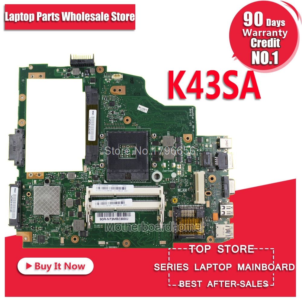 K43SA Motherboard HM65 REV:2.0 For ASUS A43S X43S K43S A43SA K43SA laptop Motherboard K43SA Mainboard K43SA Motherboard used for asus k43sv k43s k43sj a43s a84s x43s k43sm laptop motherboard rev 4 1 usb3 0 gt540m 2gb mainboard fully tested