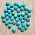 2016 fashion hight quality blue turquoise round cab cabochon beads for jewelry Accessories 8mm wholesale 50pcs/lot  free