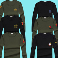 Men's long sleeved army fan cotton slim bottoming shirt special forces t shirt clothes