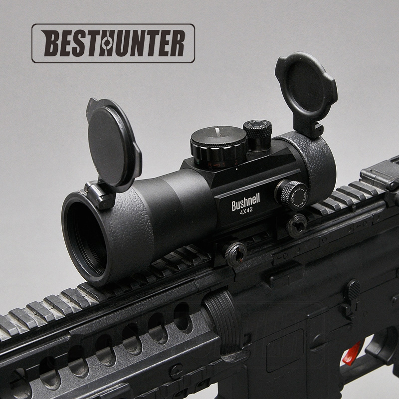BUSHNELL Tactical optics riflescope 4X42 Red Green Dot Sight Scope Fit Picatinny Rail Mount 20mm Hunting Rifle Scopes dave melton hire the american dream