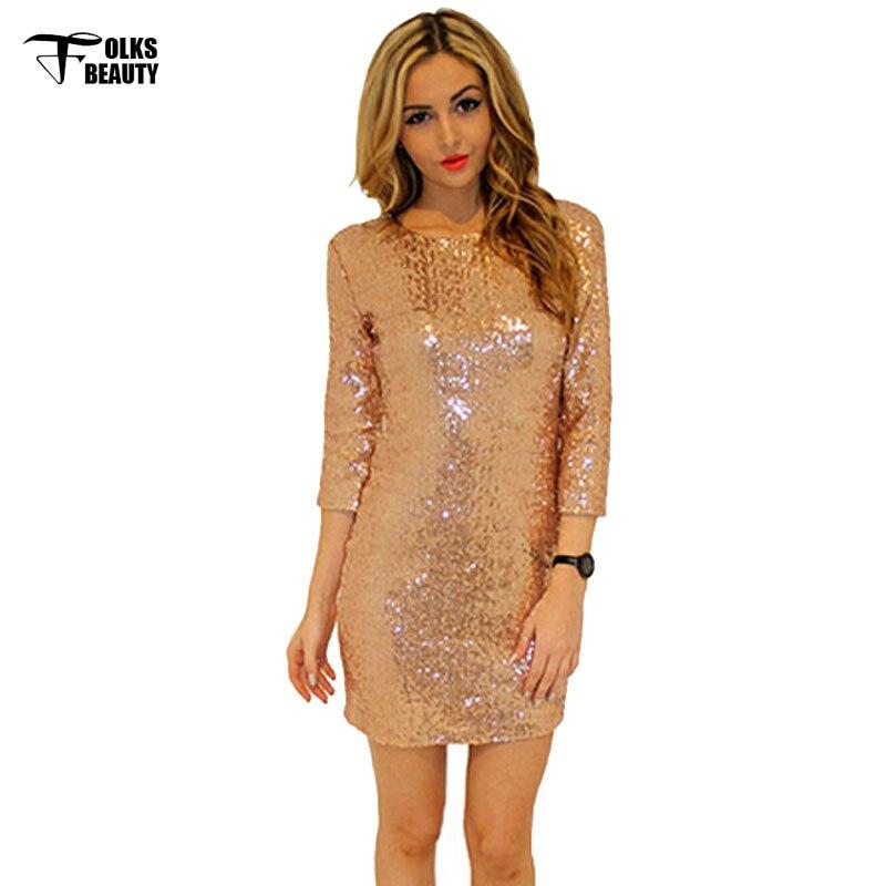 2xl Plus Size Short Summer Dress Glitter Women Sequin Gold Dresses